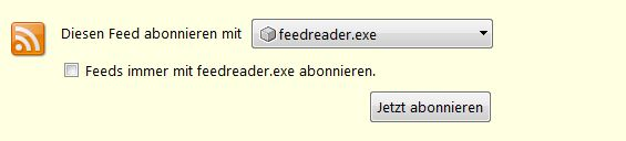 Feed Abo mit Feedreader
