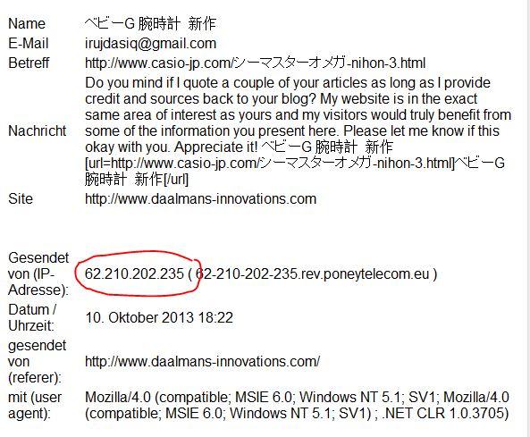 Spam Mail Beispiel